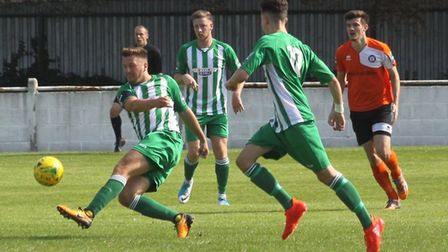 Lewis Endacott is staying at Soham Town Rangers. Picture: ANDY BURFORD