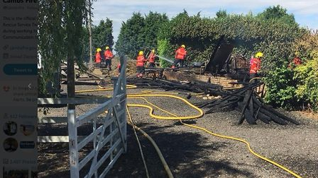 Grandford Drove in March where fire crews were called on Thursday to tackle to a barn fire. PHOTO: C