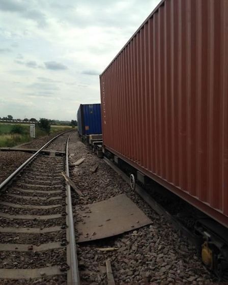 The derailed freight train near Ely that caused massive disruption to services between Bury St Edmun