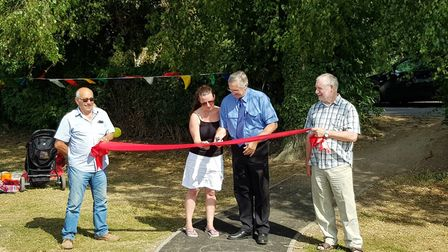 The opening of a new play park in Friday Bridge. Photo: Submitted