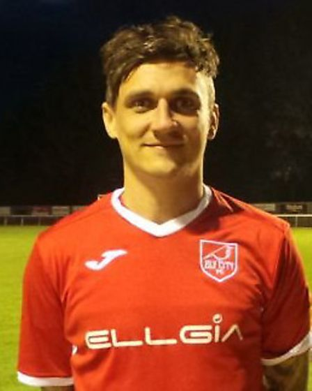 Sam Reed scored Ely's opening goal in the derby win against Newmarket Town. Picture: ELY CITY FC