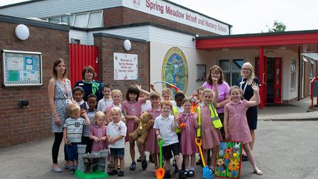 Spring Meadow Infant & Nursery School, in High Barns, received the money from McCarthy and Stone. Ph