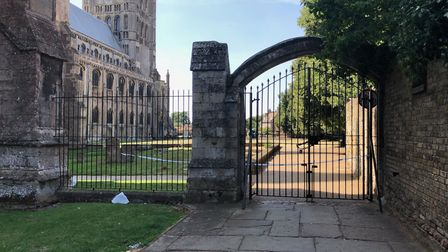Area around Ely Cathedral cordoned off as police investigate. PHOTO: John Elworthy