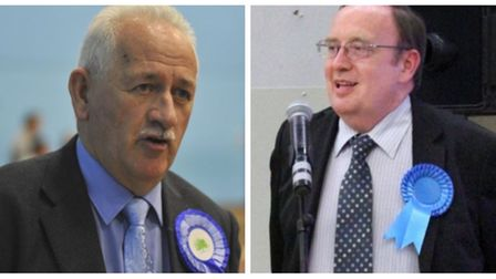 County councillor Mac McGuire (left) who has quit the FACT board in March and the HACT board in Hunt