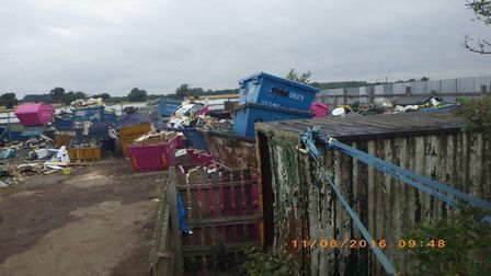 The site in Long Drove, Waterbeach, began as a skip hire site but soon became an unpermitted waste