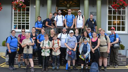There was lots of aching muscles among the dedicated climbers after the walk on August 4 – in which