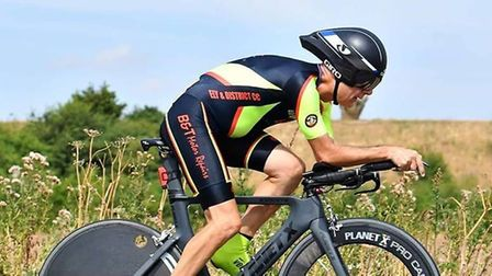 Cliff Loveday in the Kings Lynn CC race on the B25/33 PHOTO: Ming Lo
