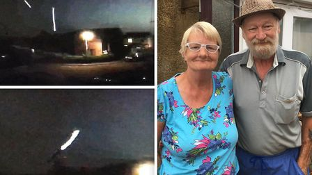 Carol Upchurch (left) and Gerald Lilley (right) believe they have filmed fireflies outside their Wim