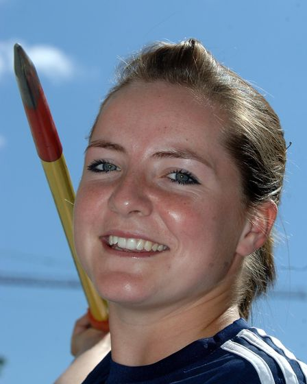 Javelin thrower Goldie Sayers in Vaasa, Finland today as the GB Womens team prepare for their Europe