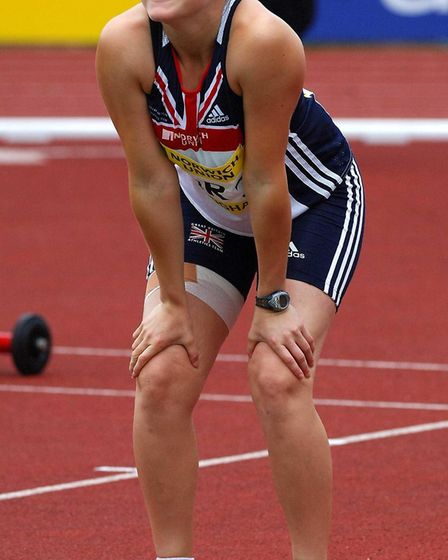Great Britain's Goldie Sayers during the javelin event in the Norwich Union International, at the Al