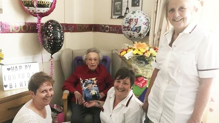 Mrs Green 'Mary' had a wonderful 100th birthday celebration at The Hermitage Care Home in Whittlesey