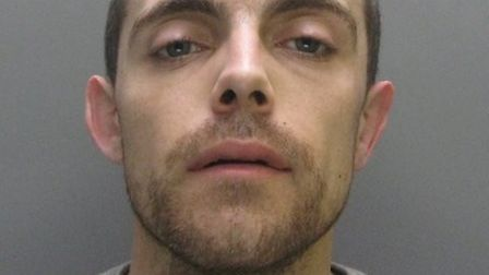 """Stephen Neal (pictured) has been jailed for three years after burgling a home while """"out of control"""