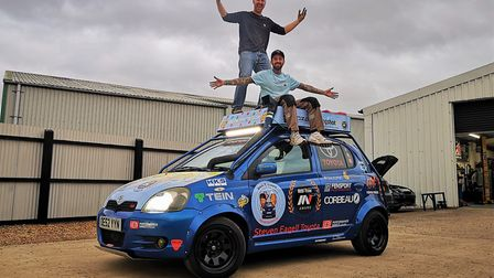Dan Handley and Dave Brooks of Chatteris face a gruelling 12,500 mile journey from Cambridgeshire to