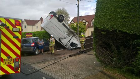 The scene of the collision in Aythorpe Roding. Picture: ESSEX FIRE AND RESCUE SERVICE