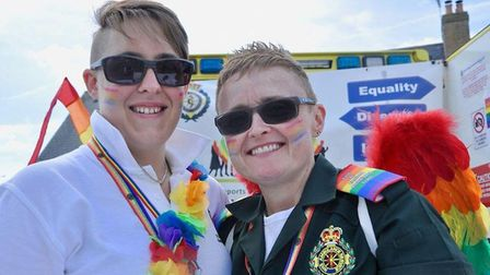 The hugely successful Pride Ely celebration in Jubilee Gardens, Ely, on Saturday August 11. It was t