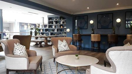 Tewkesbury Park hotel. The piano bar and dining area PHOTO: Daisy Brownlow