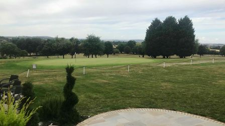 Tewkesbury Park hotel. View from the balcony area. PHOTO: Daisy Brownlow