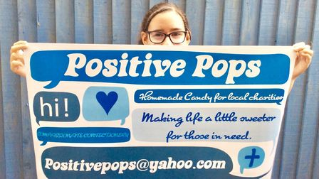 Tashi Marley, 13, is hoping her Positive Pops raise money for charity. Photo: Submitted