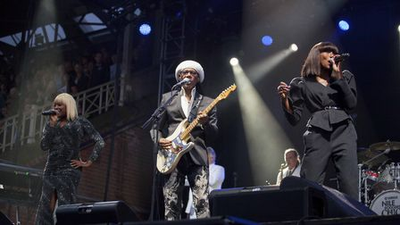 Chic & Nile Rodgers bring career-spanning tour to Newmarket Racecourse. PHOTO: Angela Smith.