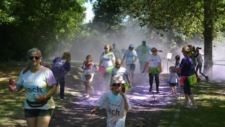 Hundreds of runners were showered by an explosion of colour in Ely at the weekend - all in aid of Ea