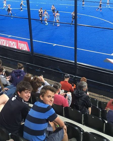 Young leaders Will Smithee and Jamie Hallatt travel to a Hockey World Cup event at Lee Valley London