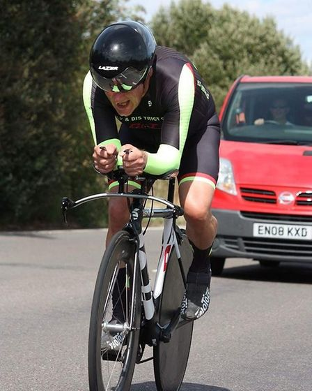 Derek Ricketts of Ely Cyclling Club races to 7th place on the VTTA 10 race. PHOTO: Dominic Austin