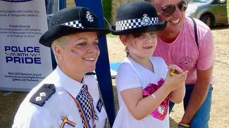 Ely Pride saw police officers attend and offer advice against hate crime. Photo: Policing East Cambs