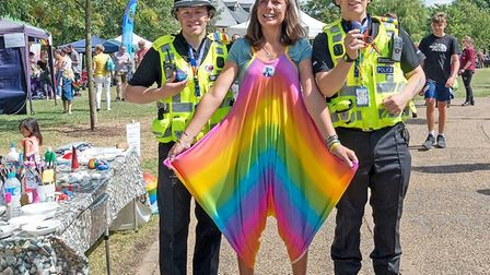 Cambridgeshire Police turned out to support Ely's first Pride event PHOTO: Courtesy of Pride in Ely