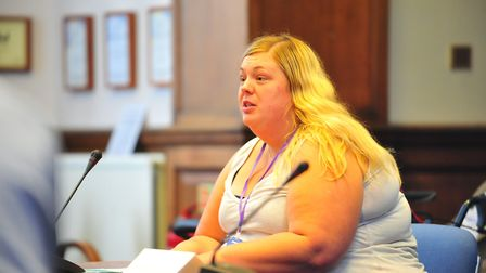 Councillor Samantha Hoy at the Fenland Hall meeting on Wednesday, August 15. Picture: HARRY RUTTER