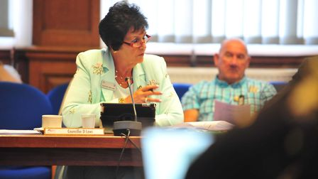 Councillor Dee Laws at the Fenland Hall meeting on Wednesday, August 15. Picture: HARRY RUTTER