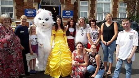 Volunteers who took part in the event that raised £945 for the March Community Centre and national c