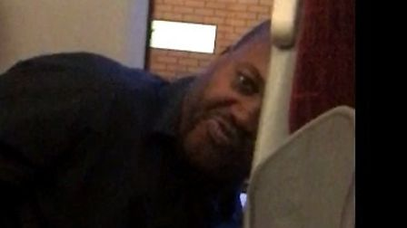 Officers from British Transport Police are looking to identify him after a 16-year-old girl was hara