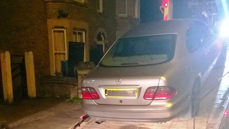 This Mercedes-Benz was seized by police in Chatteris after it was driven with no MOT, no insurance a