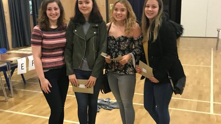 Students collecting their A-level results at Neale-Wade Academy. Picture: Jason Wing
