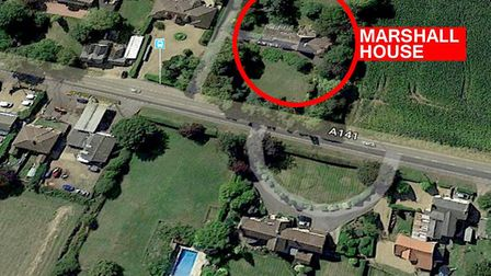 Aerial shot of Marshall House on Wisbech Road, Westry. Picture: Google Earth