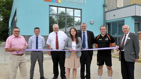 Official opening of the revamped centre by Cllr Michelle Tanfield, FDC's Portfolio Holder for Leisur