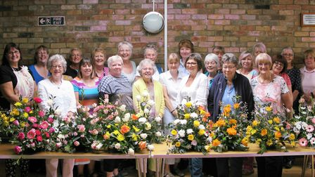 The event took place on August 18 when 25 members of Littleport & District Flower Club were joined b