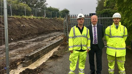 Norwood Road Bridge in March will have a new footpath and cycle way in place soon. Pictured with Cam