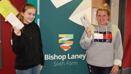 Results day at Bishop Laney. Picture: SUBMITTED