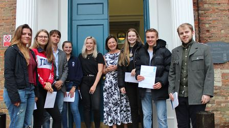 A-Level results day 2018 at King's Ely. PHOTO: Simon Blake