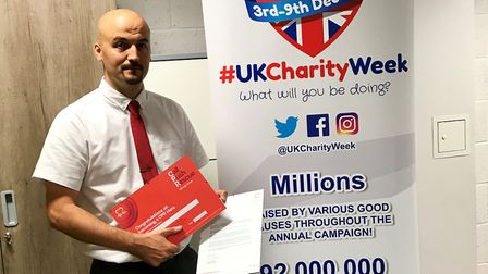 Cambridgeshire man Lee Rayment (pictured) has received the British Heart Foundation's CPR Hero Award