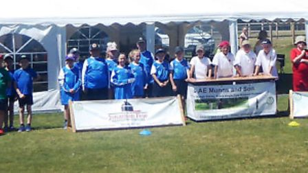 Youngsters who took part in the kwik cricket festival at Sutton Cricket Ground. PHOTO: Sid Wales.