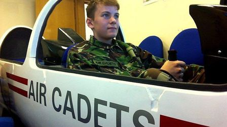 First class cadet James Munday, from 1094 (City of Ely) Squadron attended the air cadet volunteer gl