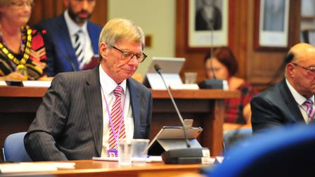 Cllr Chris Seaton, lead, at meeting at Fenland Hall on Thursday, September 13 2018. Picture: HARRY R