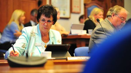 Cllr Dee Laws, cabinet member, at meeting at Fenland Hall on Thursday, September 13 2018. Picture: H