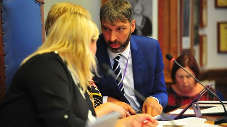 Chief executive Paul Medd at meeting at Fenland Hall on Thursday, September 13 2018. Picture: HARRY