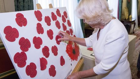 HRH The Duchess of Cornwall hosts a reception in her home at Clarence House for the Poppy Factory s