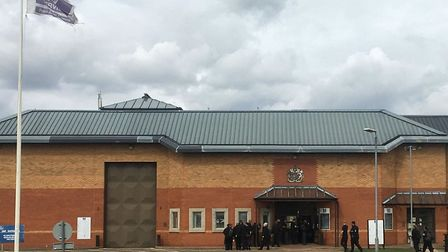 Prison officers returning to work today at Whitemoor after protesting outside the jail since 7am ove