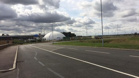 Chatteris: There is nothin' like a dome – large dome outside the 'mothballed' Tesco store in Chatter
