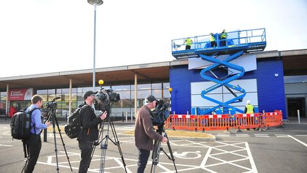 The world's media gathered in Chatteris this morning (September 19) to see Tesco's new discount supe